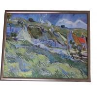 Vincent van Gogh Hütten in Auvers-sur-Oise Öl auf Leinwand Impressionismus